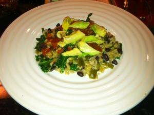 rice + beans + kale