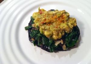 mushroom + kale