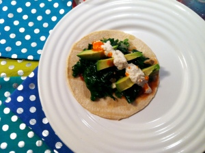 taco with cashew cream