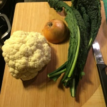 kale + cauliflower